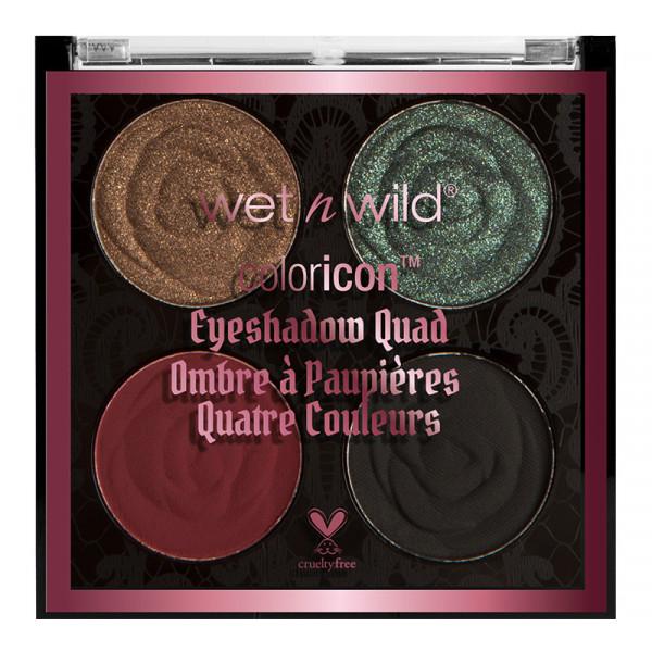 Color Icon Eyeshadow Quad-Burgundy and emerald